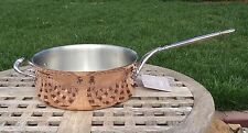 Ruffoni Convivium Hammered Copper 3 Qt Saute Pan, Made in Italy  NEW
