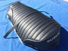 SUZUKI RV-90 RV125 1972 TO 1977 High Quality REPLACEMENT SEAT COVER + Strap