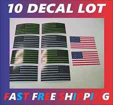 10 USA MILITARY FLAG Sticker Decal LOT 4 OD Green Black Gray Infrared American