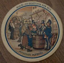 Vintage Collectible MÜNCHNER HOFBRÄU Cardboard Coaster COLLECTIBLE