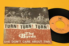 """BYRDS 7"""" TURN ! TURN ! TURN ! 1° ST ORIG ITALY 1965 EX DEBUT SINGLE ONLY ITALY C"""