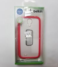 Belkin View Case Cover for Samsung Galaxy S4 Hot Pink Bumper - Clear Back Fitted