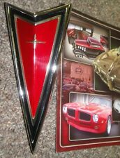 1977 78 79 81 Pontiac Firebird Trans Am NEW Front Panel Crest Emblem RED