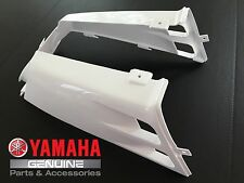 OEM Yamaha Banshee gas tank side panels plastic fenders covers WHITE