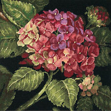 Needlepoint Kit ~ Dimensions Lovely Hydrangea Bloom Flowers Pillow #20053