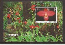 Jersey 2004 Orchids M/S MNH