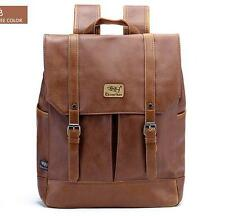 womens design backpack retro brown pu leather shoulder backpack school book bags