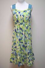 NWT ANTHROPOLOGIE GIRL FROM SAVOY Green Multi Colored Sun Day Dress Size 8