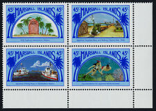 Marshall Islands 212a BR Block MNH Links to Japan, Ships, Marine Life, Diving