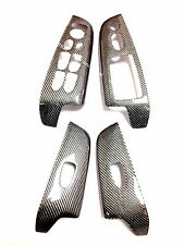 06-11 Honda Civic Sedan 4dr Silver Texalium Carbon Fiber Window Door Switch Trim