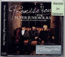 Super Junior K.R.Y.: Promise you (2013) CD  TAIWAN
