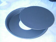 10'' Loose Base non Stick Fluted Flan Ring Tart Tartlett Quish Pie Dish Cake Tin