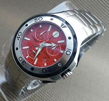 MOVADO SERIES 800 CHRONOGRAPH,RED DIAL,MODEL# 2600022 MEN'S WATCH,RETAIL$1595
