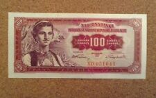 Yugoslavia Banknote. One Hundred Dinara. Dated 1955.