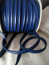 2M Blue Faux Leather Insertion Cord Flanged Rope Piping Upholstery Sewing 8mm
