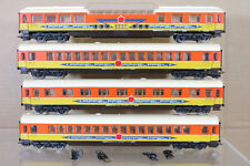 LIMA RAKE of 4 DB APFELPFEIL PASSENGER & OBSERVATION CAR COACH 2 ng