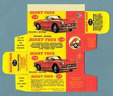 DINKY TOYS 114 : TRIUMPH SPITFIRE copy boite repro reprobox refabrication copie