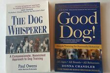 Dog Training Books-TWO!Good Dog-Donna Chandler & Dog Whisperer-Paul Owens-Easy!