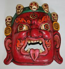 Mahakala Wooden Mask, (Protector), Home Decor, Hand Craved,Nepal, WM-1, New