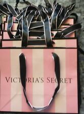 Lot of 12 small Victoria's Secret paper gift shopping bags light pink stripes