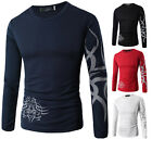 New Fashion Mens Slim Fit T-Shirt Casual Shirt Long Sleeve Cotton Men T-Shirts