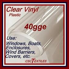 "MARINE 40gge UVR-CLEAR VINYL 54""w x 15-yd/ROLL for enclosures : EISENGLASS"