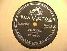 RCA VICTOR 78 RECORD /MILT HERTH TRIO/RAG OF RAGS/I'D LIKE TO KISS SUSIE/ EX
