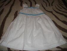 BOUTIQUE TEA COLLECTION AEGEAN DRESS 3 3T WHITE BLUE ACCENTS SISTERS