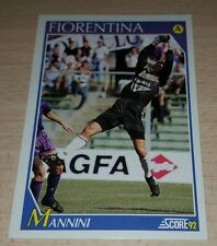 CARD SCORE 1992 FIORENTINA MANNINI CALCIO FOOTBALL SOCCER ALBUM