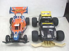 R/C Race Car Lot  Fast Lane Sand Ripper & NIKKO Deceptor - Used For Parts or Res