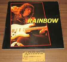 with TICKET stub! RAINBOW Japan TOUR BOOK 1984 Richie Blackmore - more listed!