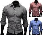 MERISH Herren Hemd Größe S-XXL Slim Fit Trend Style Kariert T-Shirt Polo 41