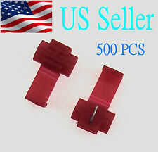 500x Red Scotch Lock Quick Splice Wire Cable Connector Terminal Crimp( AWG22-18)