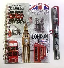 UJ NOTEBOOK DIARY - LONDON SOUVENIRS NOTE PAD & UNION JACK PEN BRITISH GIFT SET