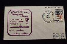 NAVAL SPACE COVER GEMINI GTA-11 RECOVERY SHIP USS WLLACE L LIND (DD-703) (1134)