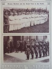 1917 ROYAL VISIT WOMEN WORKERS AND FIREWOMEN HOME FRONT WWI WW1