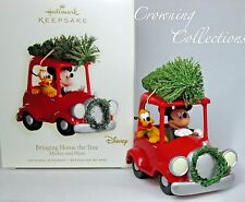 2008 Hallmark Bringing Home The Tree Mickey Mouse and Pluto Disney Ornament Car
