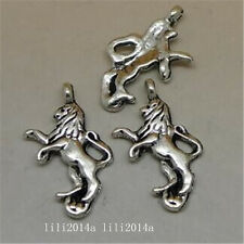 10pc Tibetan Silver Lion Animal Pendant Charms Beads Accessories WholesalePL1091
