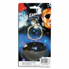 Nouveau pirate black eye patch et clip sur l'or Boucle D'Oreille Set Jack Sparrow Déguisements
