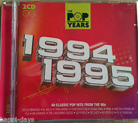 NEW - THE POP YEARS 1994-1995 - 90's Music 2x CD Album - Kylie TLC Ant & Dec SWV