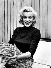 VINTAGE PHOTOGRAPHY PORTRAIT ACTRESS MARILYN MONROE LAUGH POSTER PRINT LV11378