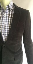 Dior Homme Suit, Black Corduroy, Size 36R (46 EUR), Excellent Condition