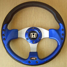 VOLANT TUNING BLEU Honda Civic Integra Accord Prelude CRX Jazz Del Sol NSX