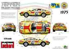"FFSMC Productions Aufkleber 1/24 Ferrari 365 GTB/4 ""Luchard"" 24 Stunden - Mans"