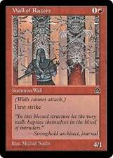 WALL OF RAZORS Stronghold MTG Red Creature — Wall Unc