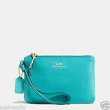 Coach Wristlet F52850 Coach Crossgrain Leather Small Wristlet Agsbeagle