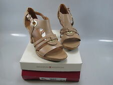 NATURALIZER Womens' DALENA Beige Leather Strappy Platform Heel Size US 9.5 M