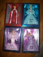 LOT of 4 2000-2003 Barbies Collector Series RARE HTF