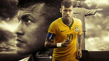 "352 Football Super Stars - Neymar Jr. Brazil 43""x24"" Poster"