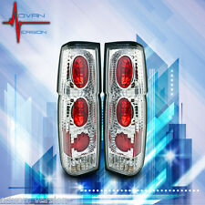 Fit 86-97 Nissan Pickup D21 Hardbody Tail Lights Chrome Clear Rear Lamp PAIR